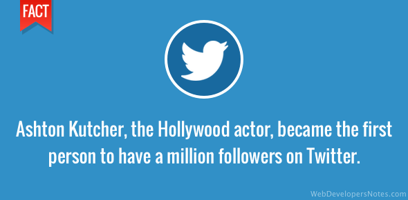 Ashton Kutcher - first Twitter user with 1 million followers