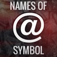 Various names of the @ symbol in different languages