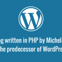 WordPress predecessor - b2/cafelog