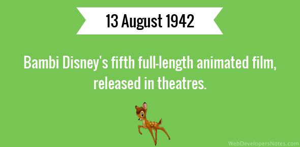 Bambi released in theatres
