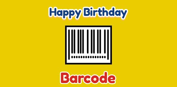 Barcode birthday - 26 June