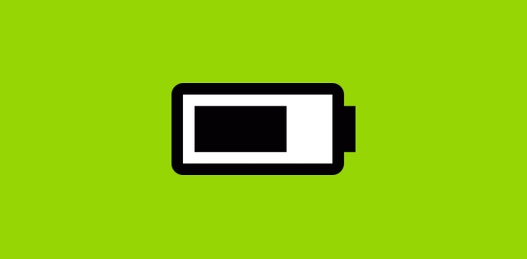 Battery icon on a Mac laptop