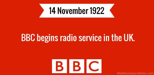 BBC begins radio service