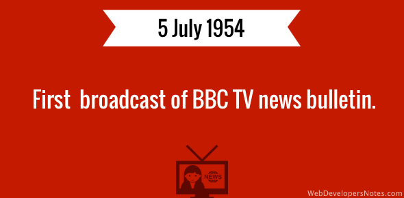 BBC's first TV news broadcast