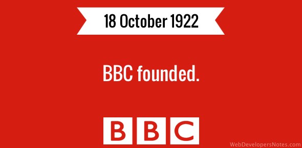 BBC founded