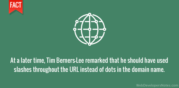 Tim Berners-Lee regretted using dots in URL