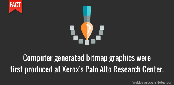 Bitmap graphics were developed at Xerox's PARC
