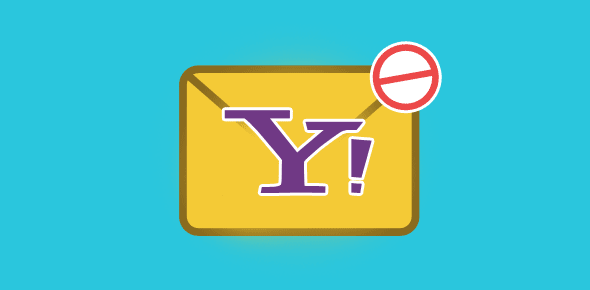 Block spam at Yahoo email account
