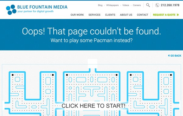 BlueFountainMedia error page