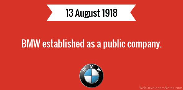BMW becomes a public company