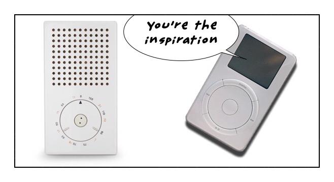 Braun T3 transistor radio design was the inspiration for the iPod