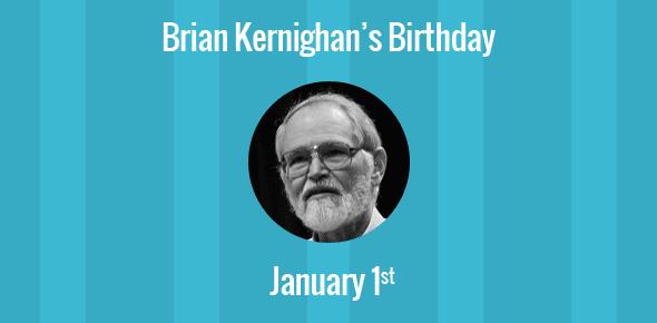 Brian Kernighan Birthday - 1 January 1942