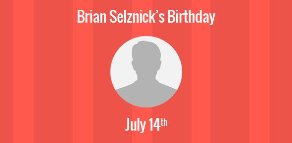 Brian Selznick Birthday - 14 July 1966