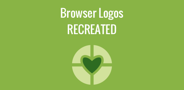 Web browser logos recreated