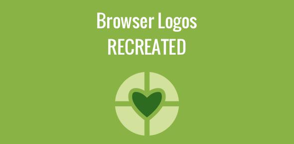 Web browser logos recreated