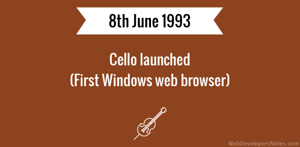 Cello launched (First Windows web browser)