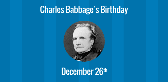 charles babbage born