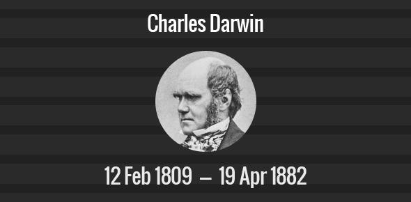 Charles Darwin Death Anniversary - 19 April 1882