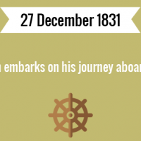 Charles Darwin embarks on his journey aboard HMS Beagle.