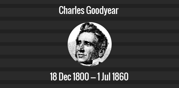 Charles Goodyear Death Anniversary - 1 July 1860