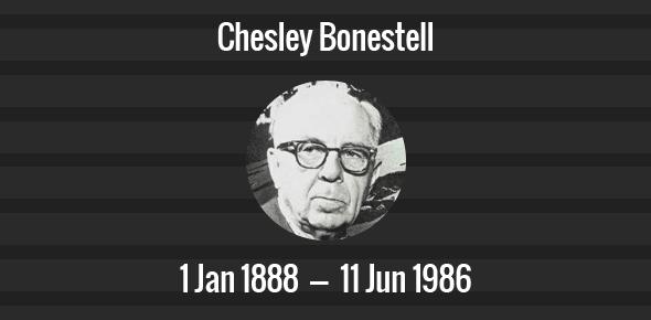 Chesley Bonestell Death Anniversary - 11 June 1986