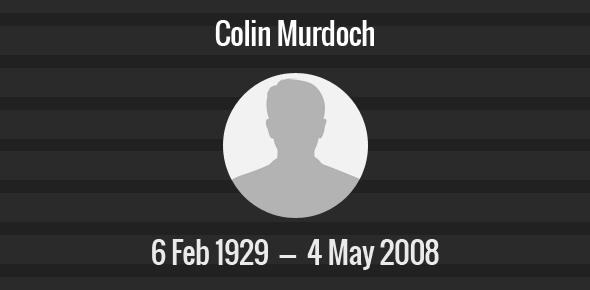 Colin Murdoch Death Anniversary - 4 May 2008