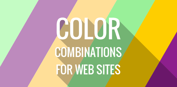 Color combinations for web sites
