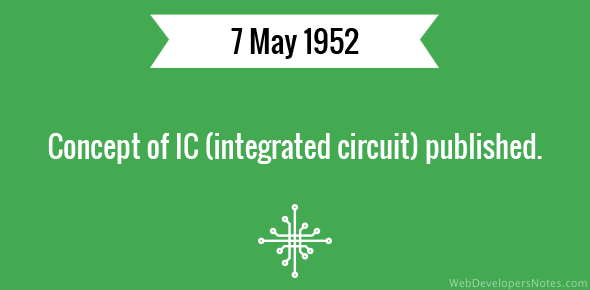 Concept of IC (integrated circuit) published