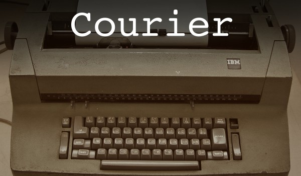 Courier font on the IBM Selectric typewriter