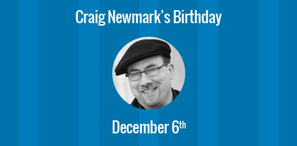 Craig Newmark Birthday - 6 December 1952