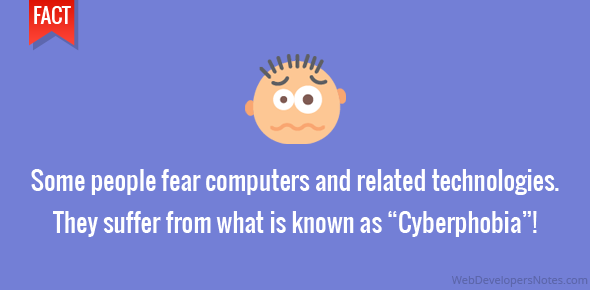 "Some people fear computers and related technologies. They suffer from what is known as ""Cyberphobia""!"