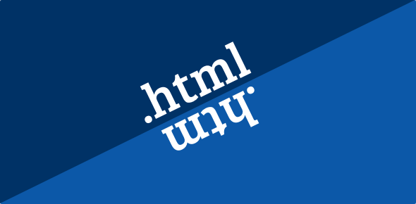 Difference between .html and .htm files