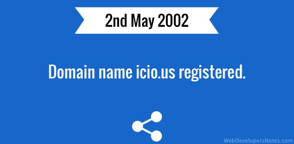 Domain name icio.us registered