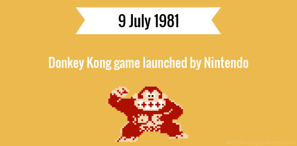 Donkey Kong game launched by Nintendo