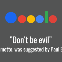 Paul Buchheit - Don't be Evil - Google's motto
