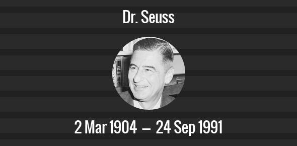 Dr. Seuss Death Anniversary - 24 September 1991