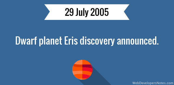 Dwarf planet Eris discovery announced