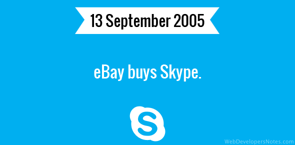 eBay buys Skype.
