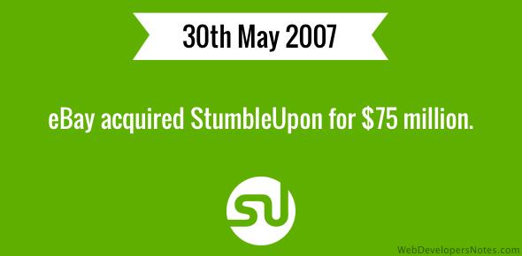 eBay acquires StumbleUpon