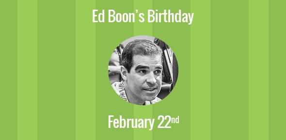 Ed Boon Birthday