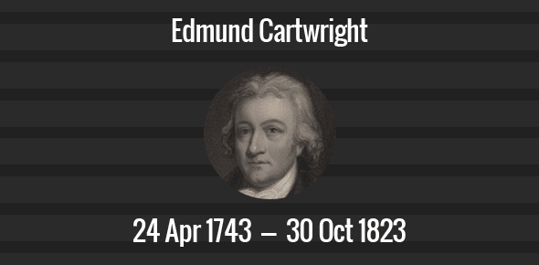 Edmund Cartwright death anniversary