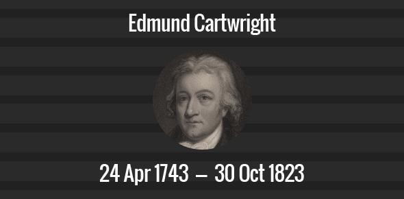 Edmund Cartwright Death Anniversary