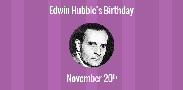 the birth of edwin hubble Edwin hubble: the great synthesizer revealing the breadth and birth of the universe by liza gross edwin missouri, in 1889, and moved with his family to chicago.
