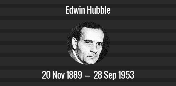 Edwin Hubble death anniversary