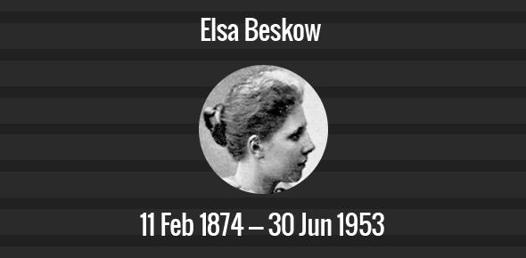Elsa Beskow Death Anniversary - 30 June 1953