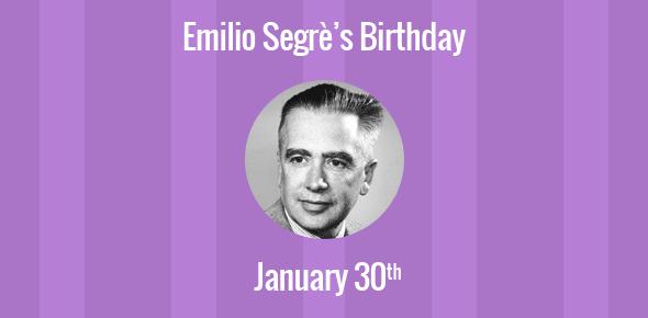 Birthday Of Emilio Segr 232 Co Discoverer Of The Anti Proton