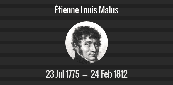Étienne-Louis Malus Death Anniversary - 24 February 1812