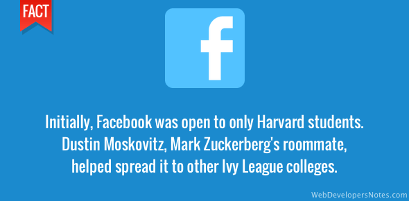Facebook was for Harvard students only