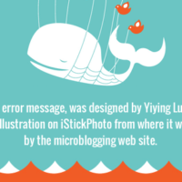 Fail Whale was designed for a birthday card