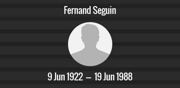 Fernand Seguin Death Anniversary - 19 June 1988